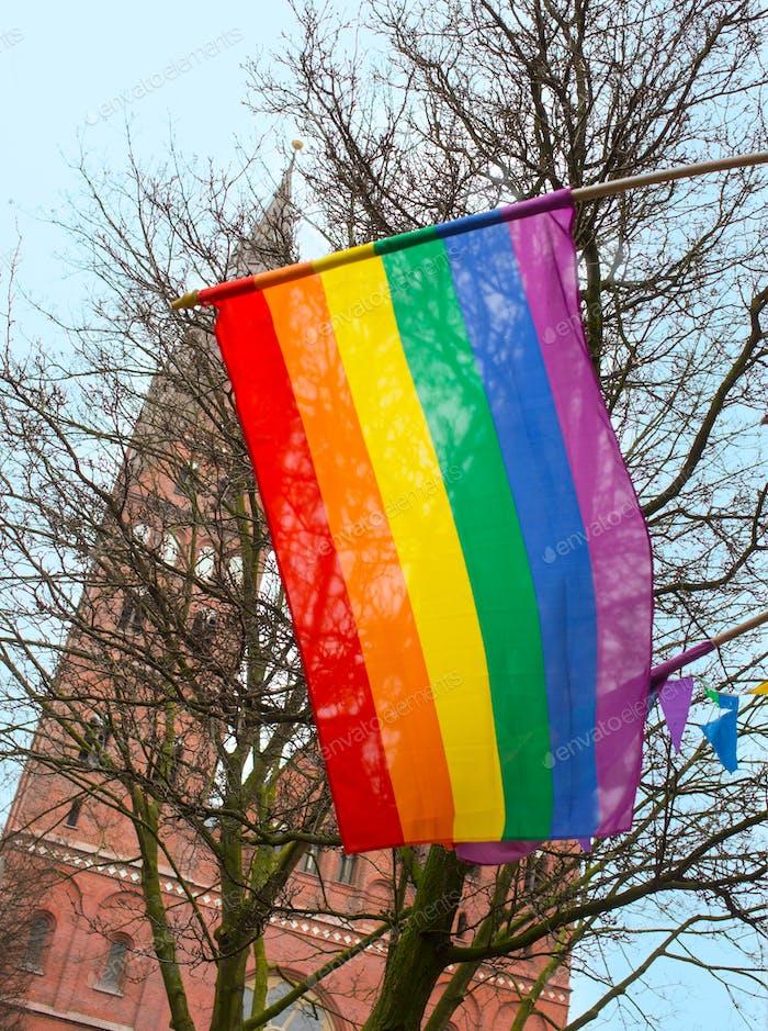 Thumbnail for Gay rainbow flag