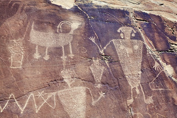 Petroglyphs in Dinosaur National Monument, Utah, USA