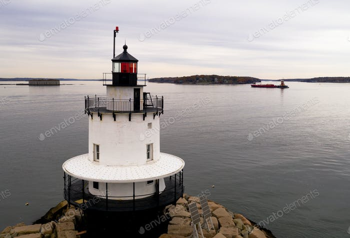 Spring Point Ledge Light Sparkplug Lighthouse Beacon Harbor Portland