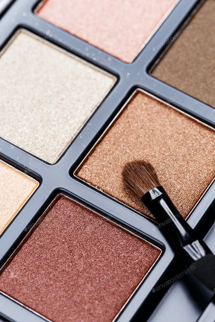 Palette of Professional Eye Shadows