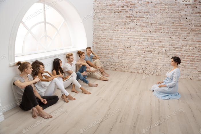 Group therapy session for couples