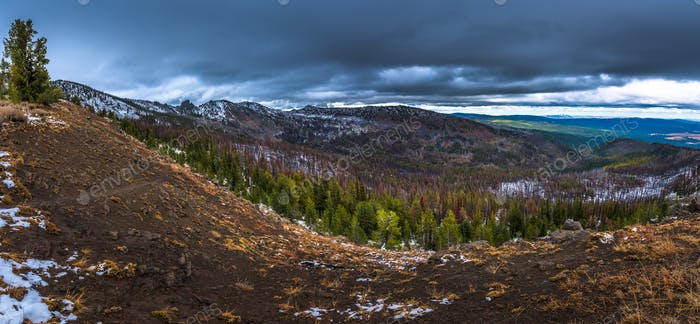 Strawberry Mountains Wilderness Malher National Forest Panorama