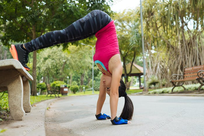 Trying to do handstand