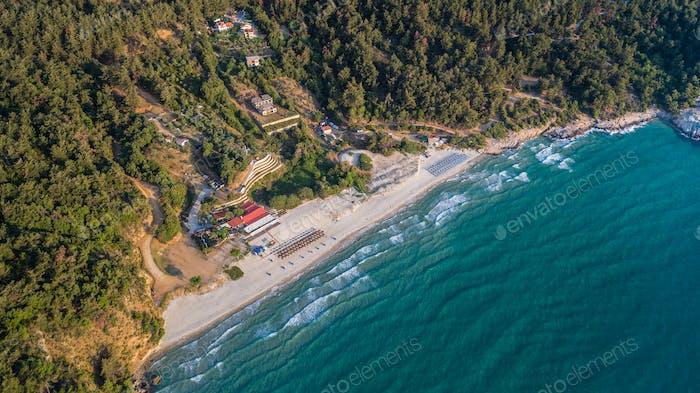 Paradiesstrand. Thassos, Griechenland