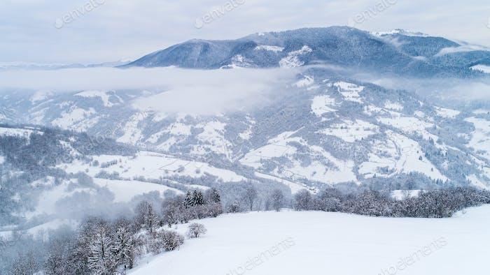 Draufsicht einer wunderschönen faszinierenden Landschaft