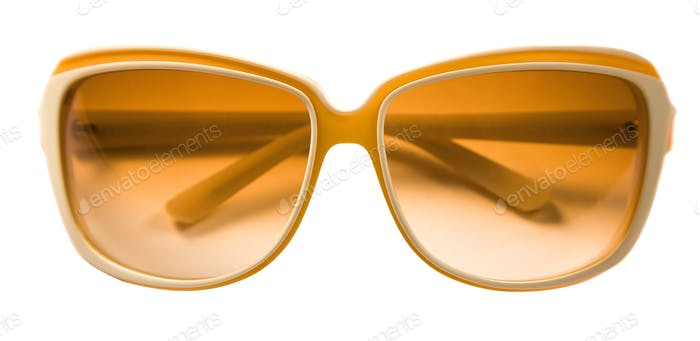 Bicolor rimmed yellow white sunglasses