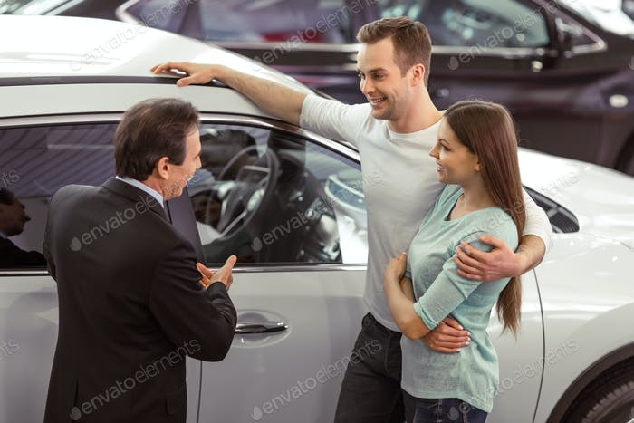People in motor show