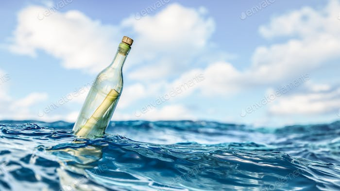 Message in a bottle background
