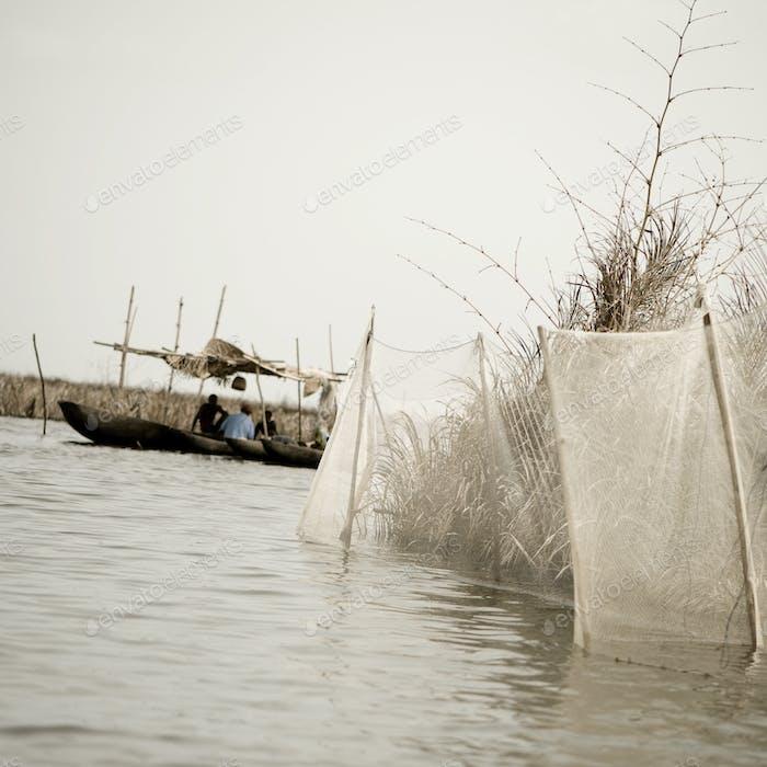 Bootfahren in Afrika