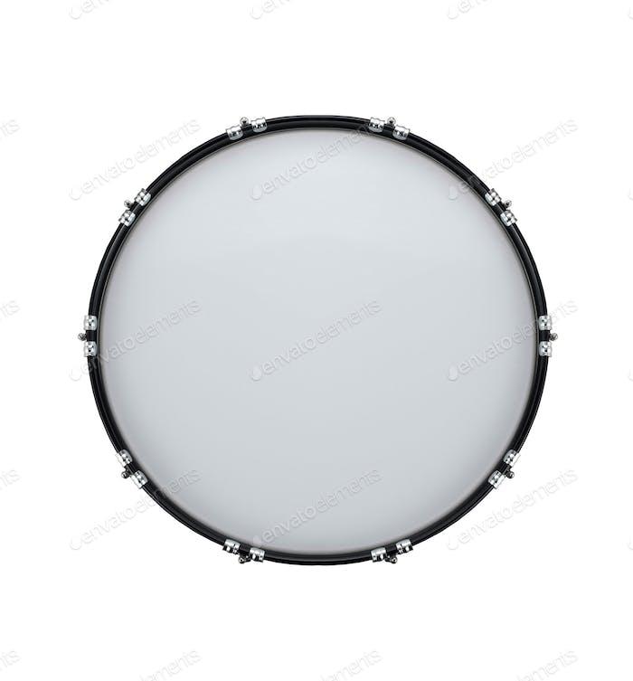 Bassdrum isoliert auf weiß