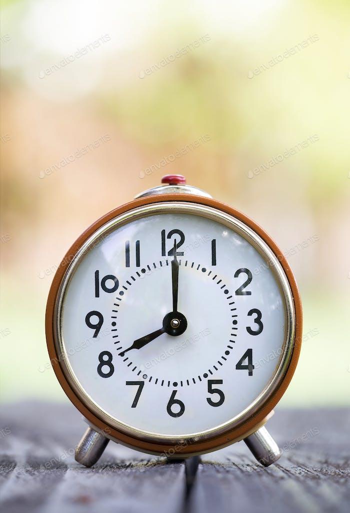 Save time concept - retro alarm clock
