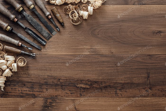 Collection of vintage woodworking tools