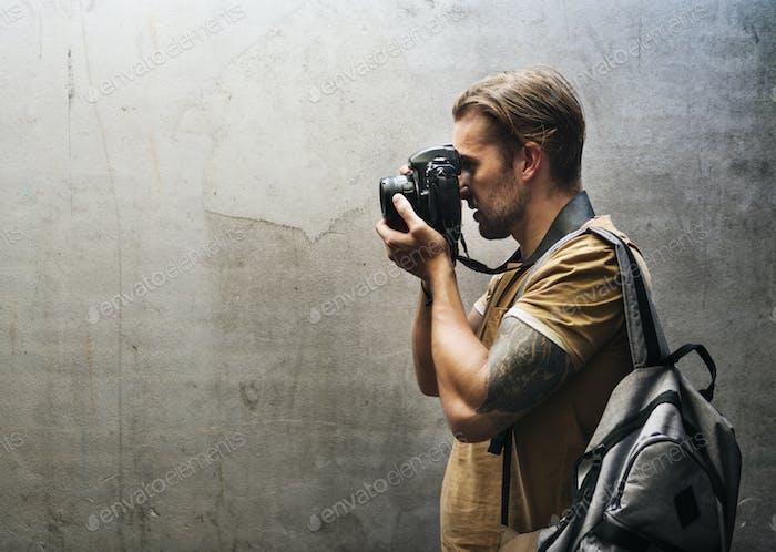 Кавказский фотограф человек