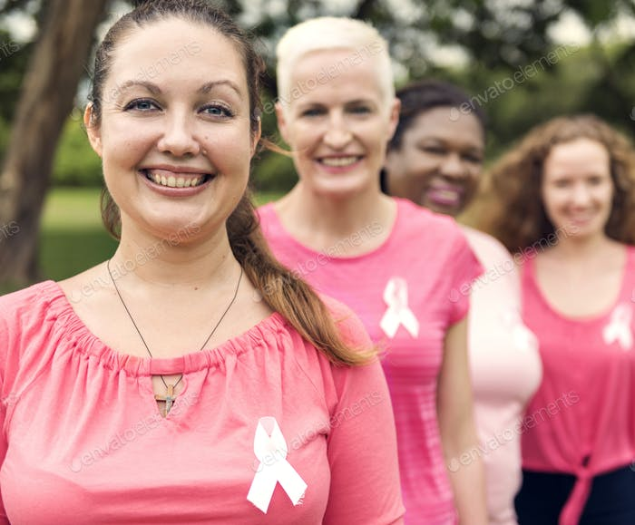 Women Breast Cancer Support Charity Concept