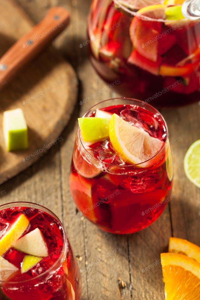 Homemade Fruity Spanish Red Sangria