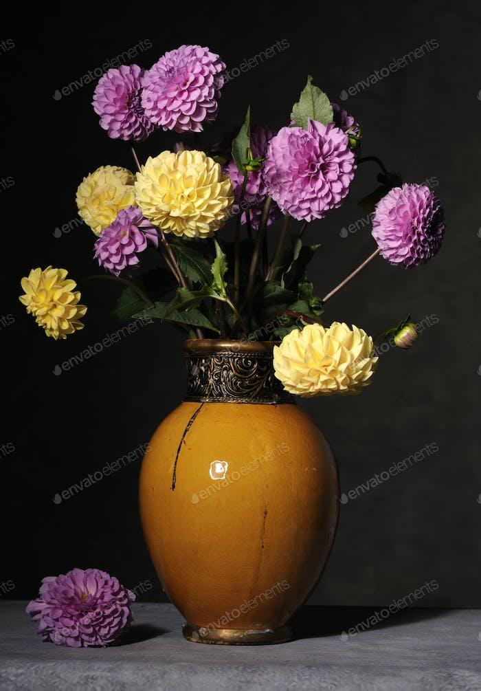 bouquet of dahlie