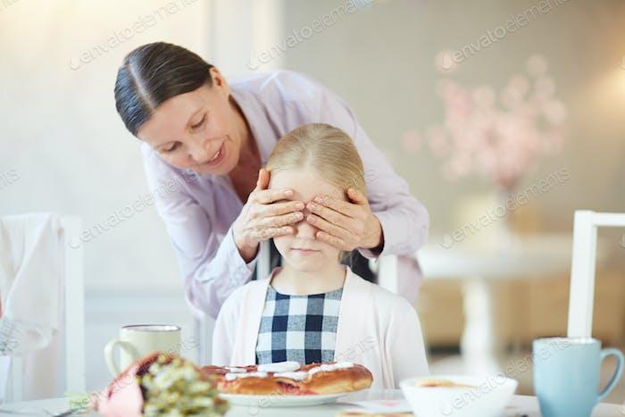 Surprise for granddaughter