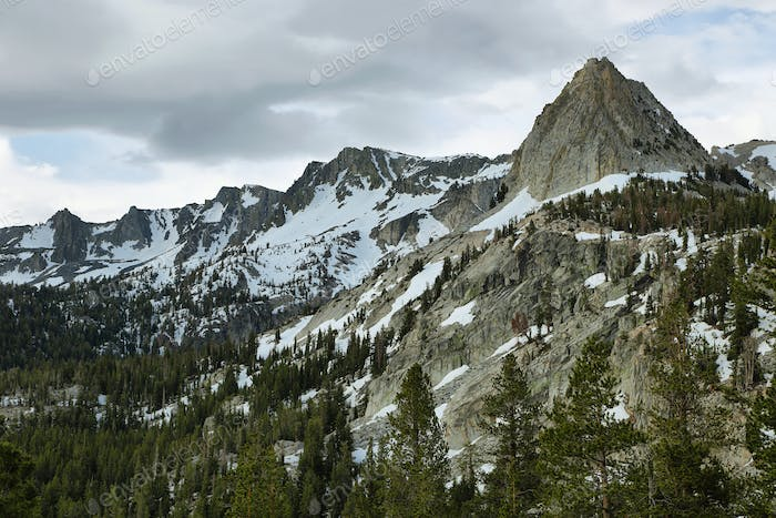 Crystal crag in Mammoth lakes, California