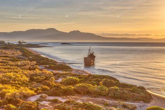 Shipwreck on Peloponnese coas