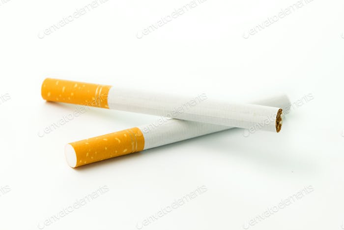 Two cigarettes close up