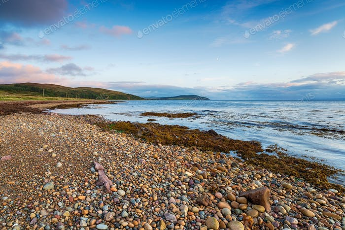 Machrie Bay on the Isle of Arran in Scotland