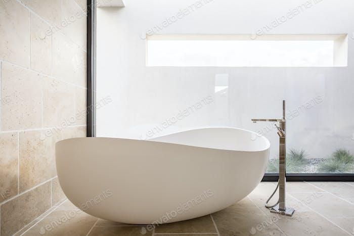Modern oval bathtub