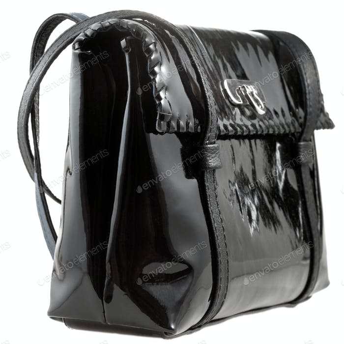 black patent leather lady's bag