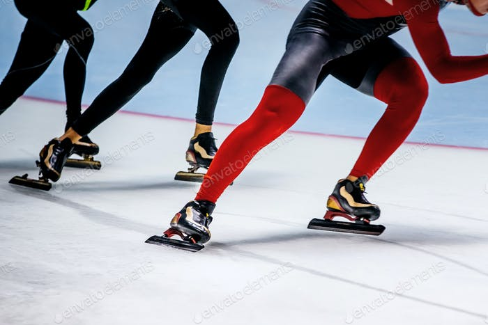 Men Athletes Speed Skaters