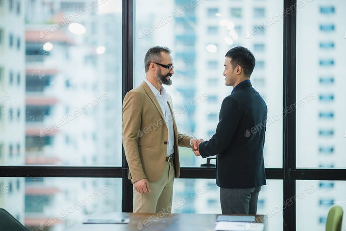 business people hands shake for business partnership success, Shake hand concept