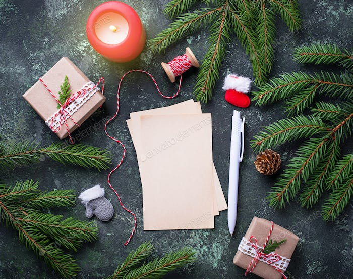Greeting card for Christmas wishes.