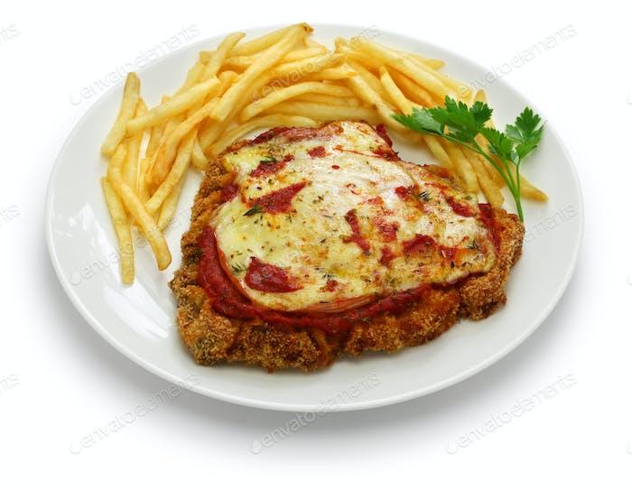 milanesa a la napolitana, Argentinien paniertes Rinderschnitzel