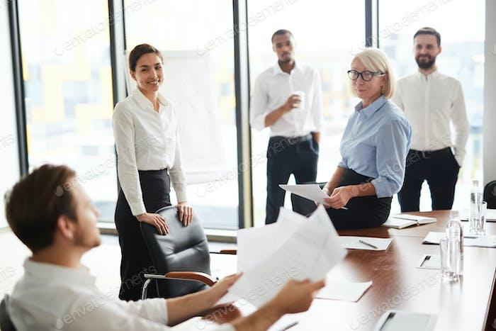 Briefing of financiers