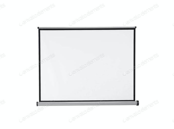 White blackboard. On a white background.