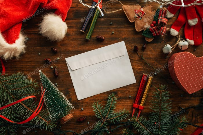 Writing a letter to Santa Claus for Christmas