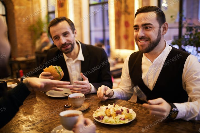 Group of Business People in Restaurant