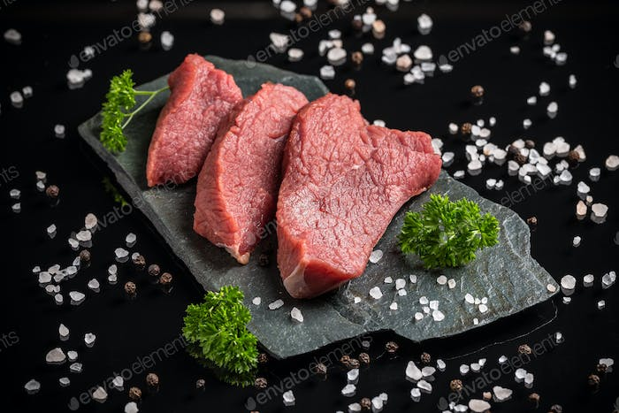 Crude beef meat