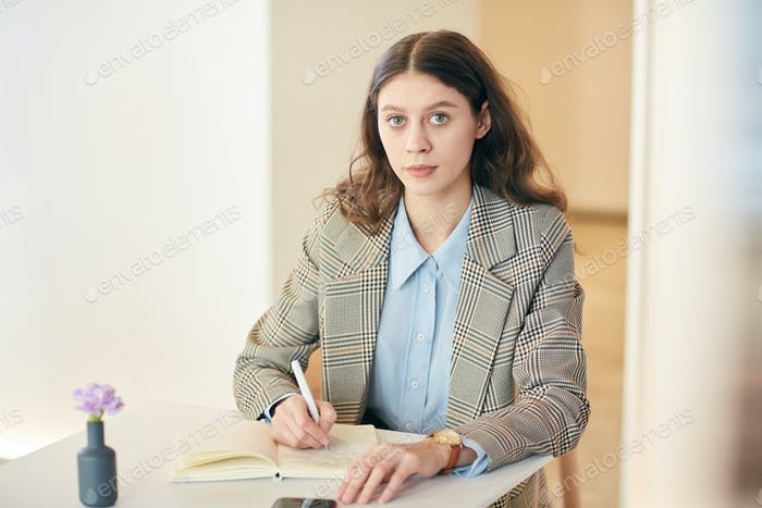 Female Student in Cafe