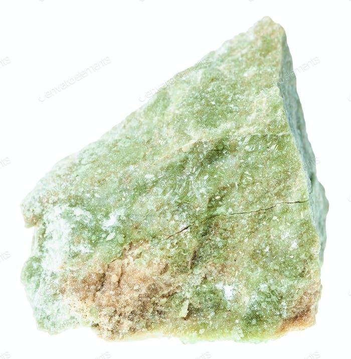 rough vesuvianite ( idocrase) stone isolated