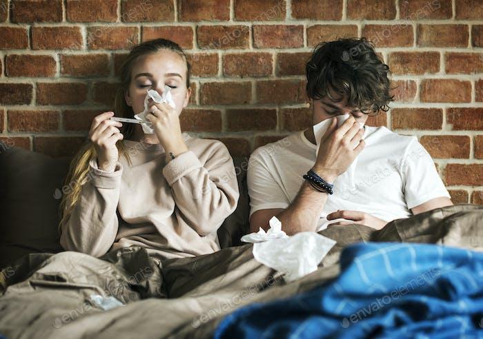 Couple is sick