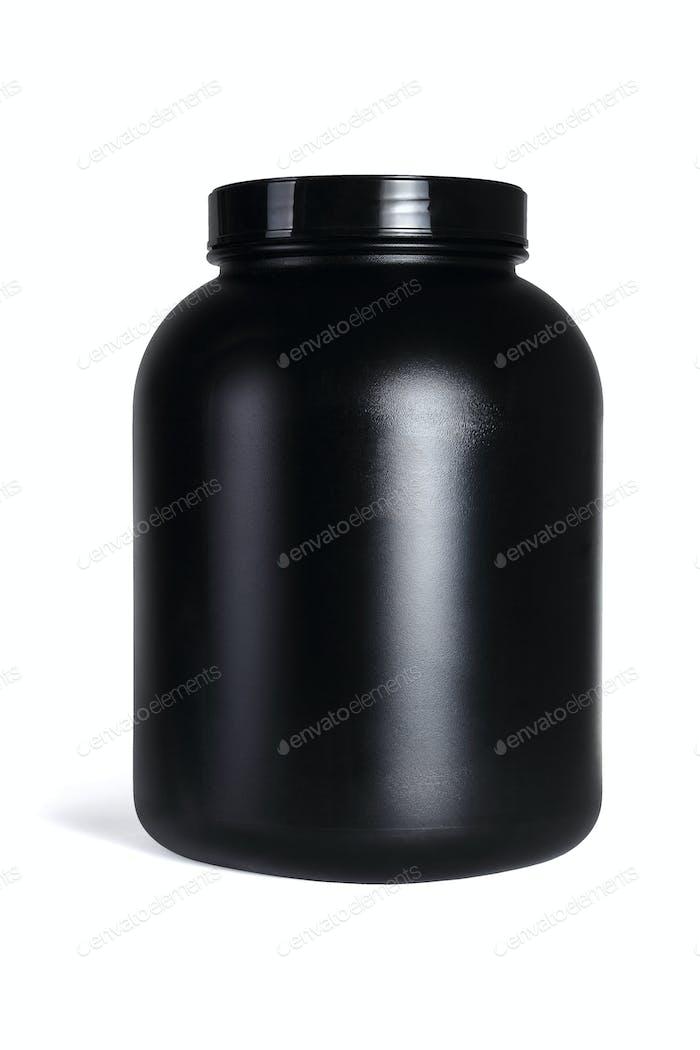 Large Black Plastic Container