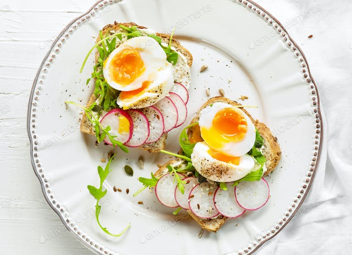 Plate of healthy sandwiches