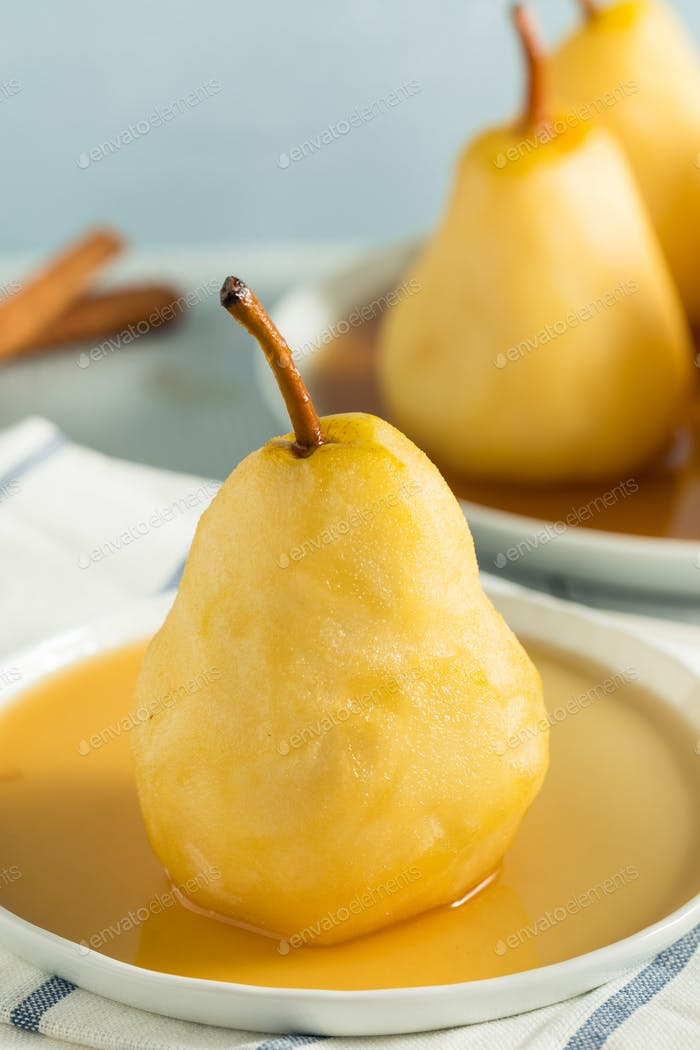 Sweet Homemade Poached Pears