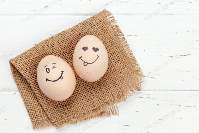 Funny faces eggs
