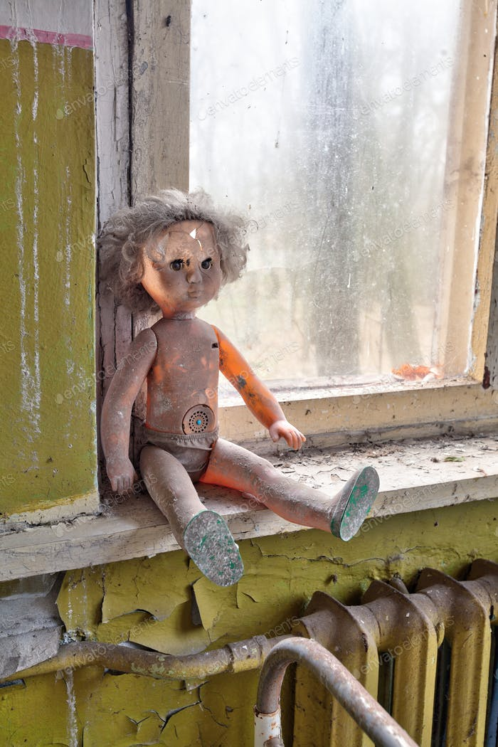 Radioactive doll in Chernobyl kindergarten