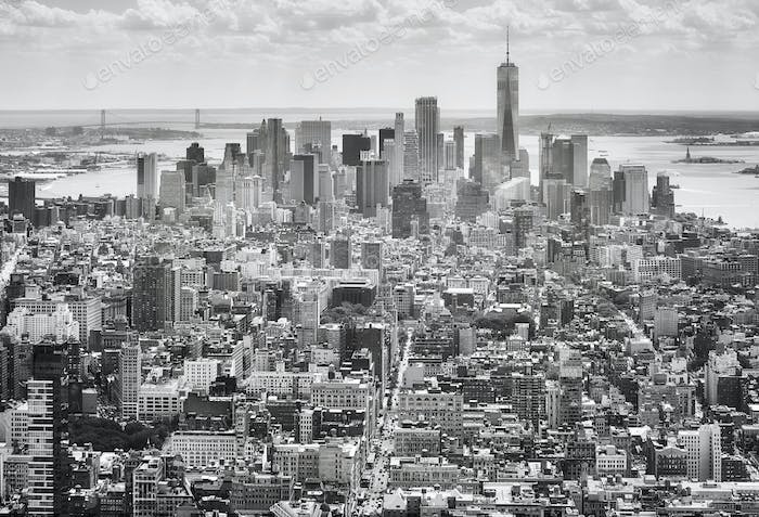 Black And White Picture Of The New York Skyline Usa Foto Von