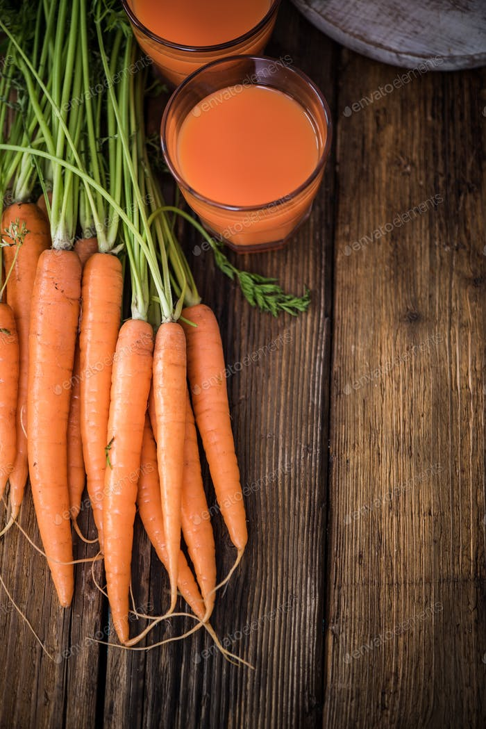 fresh healthy carrot juice