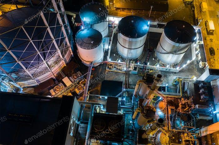 To kwa wan, Hong Kong 29 January 2019: Hong Kong gas factory at night