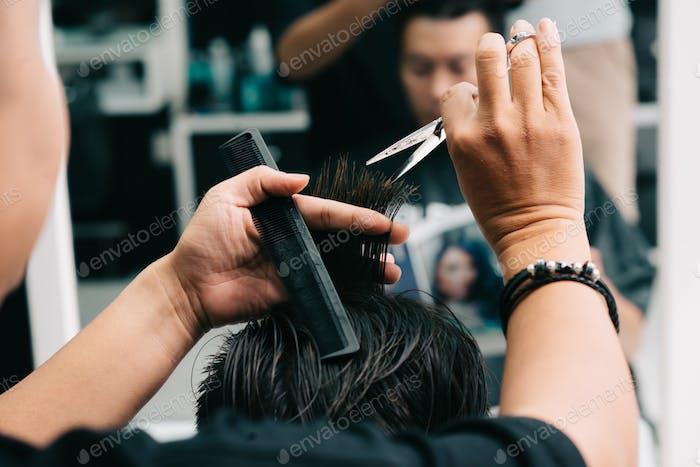At hair stylist