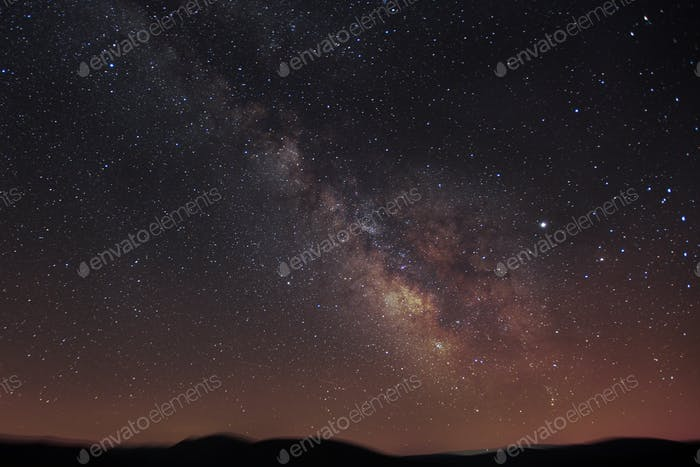 Night scene with the Milky Way