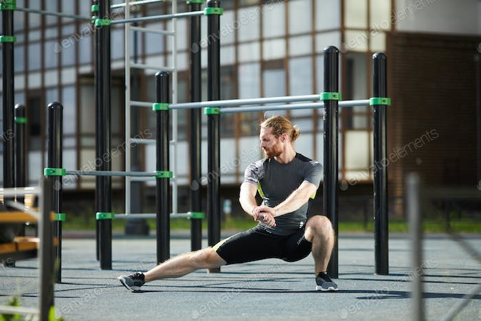 Adductor stretch exercise